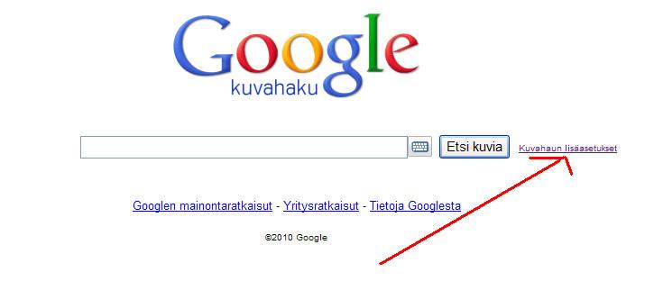 Google Tarkennettu Haku